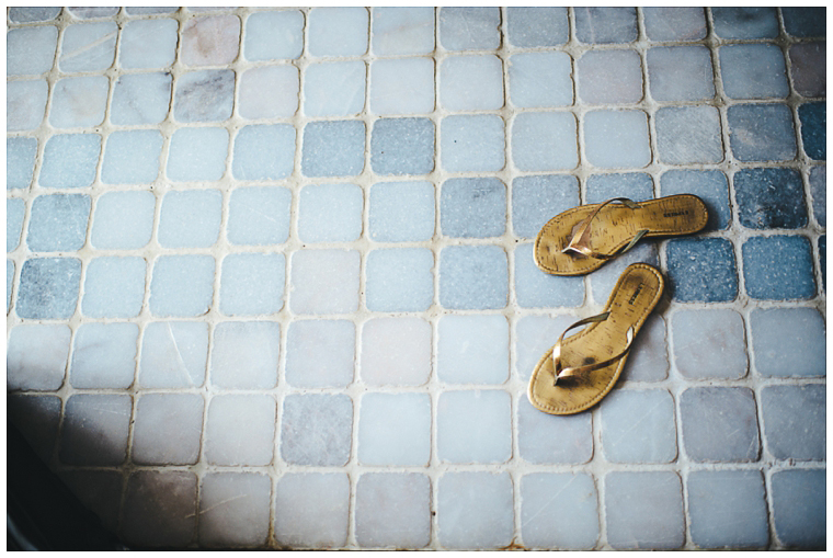 gold sandals in Cozumel