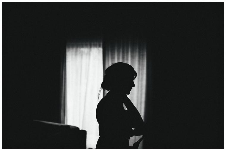 bridesmaid in a shadow