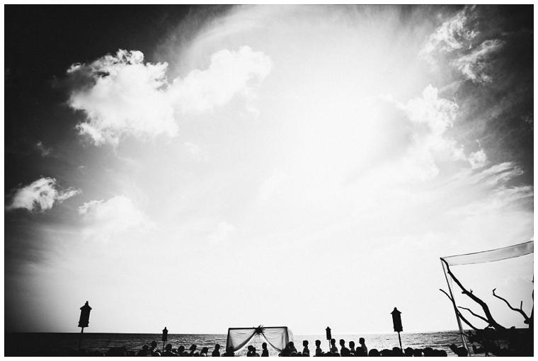 beach wedding in Cozumel