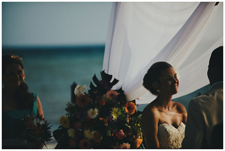 wedding ceremony on the beach in Cozumel