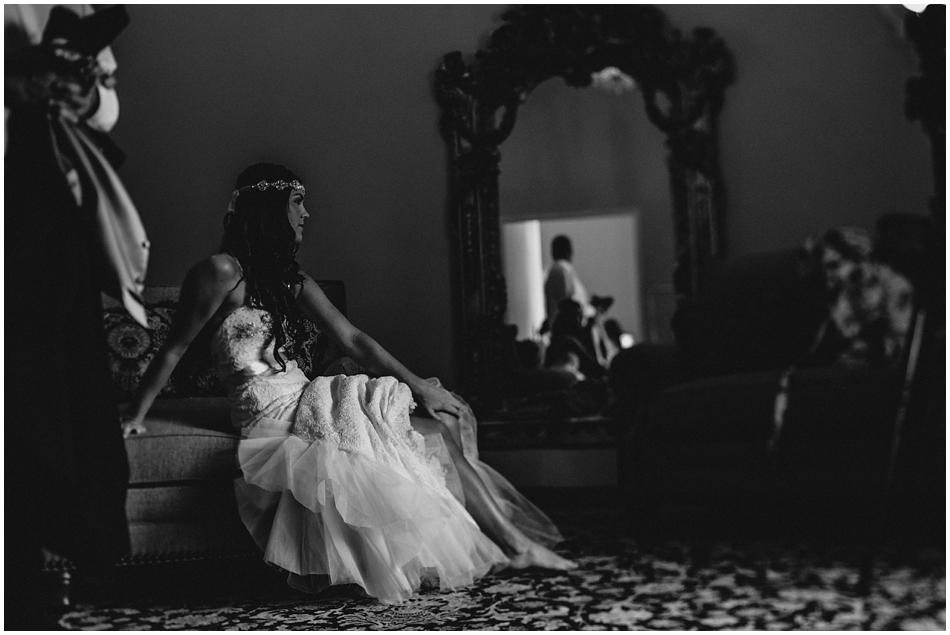Beautiful Black and White Bride Photography