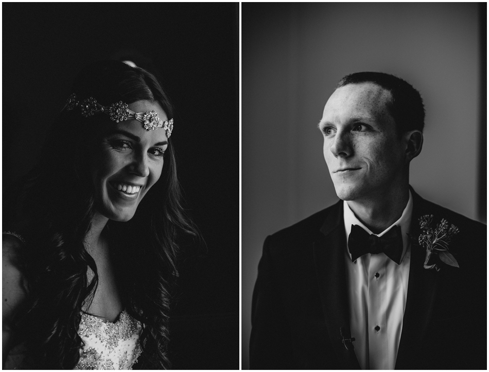 Black and White Wedding Photography Houston