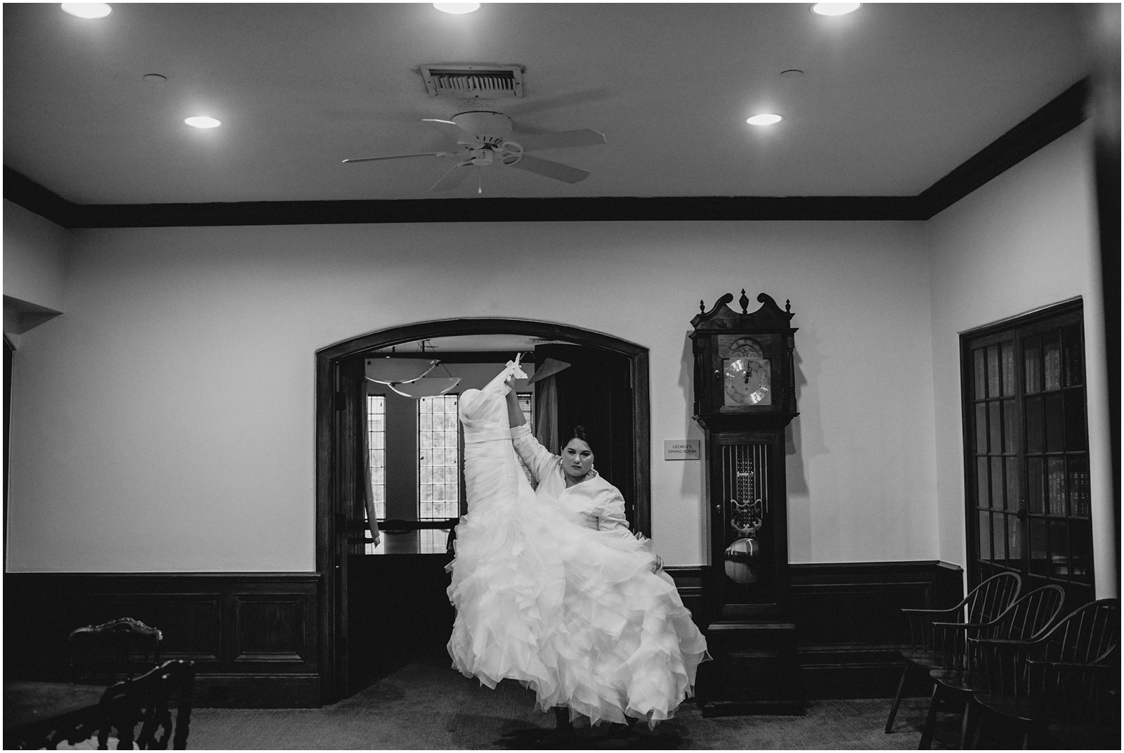 Black and white bride photography in Houston