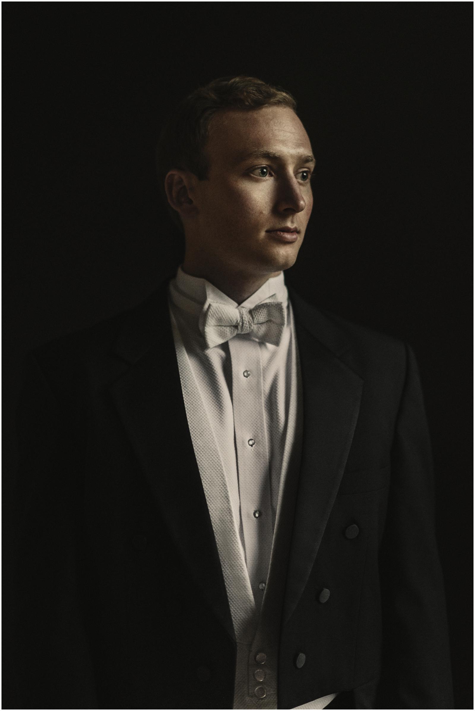 fine art groom portraits