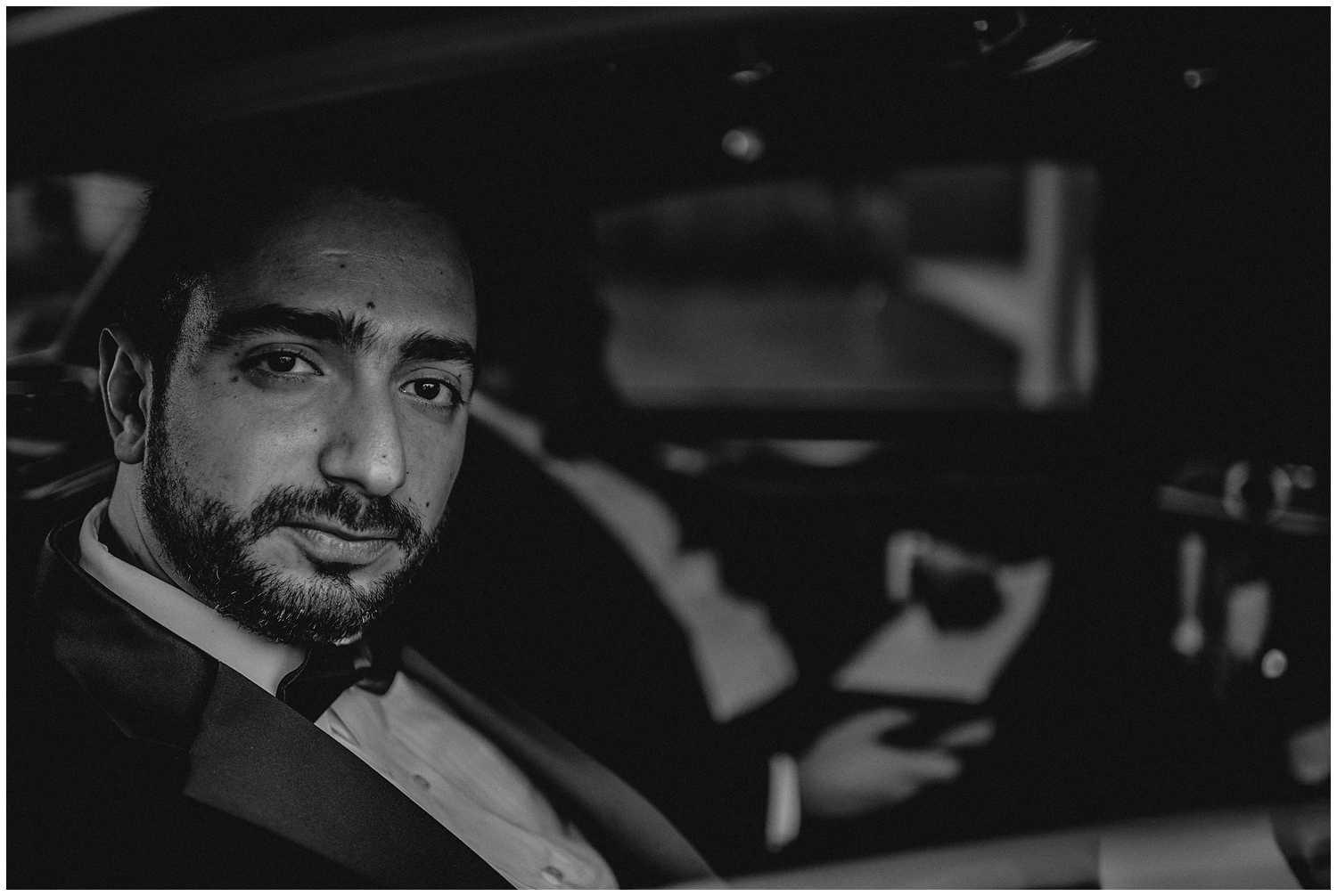 Black and white Groom Photography in Houston