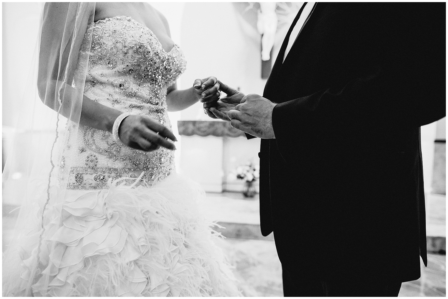 Black and white Wedding Photographer in Houston