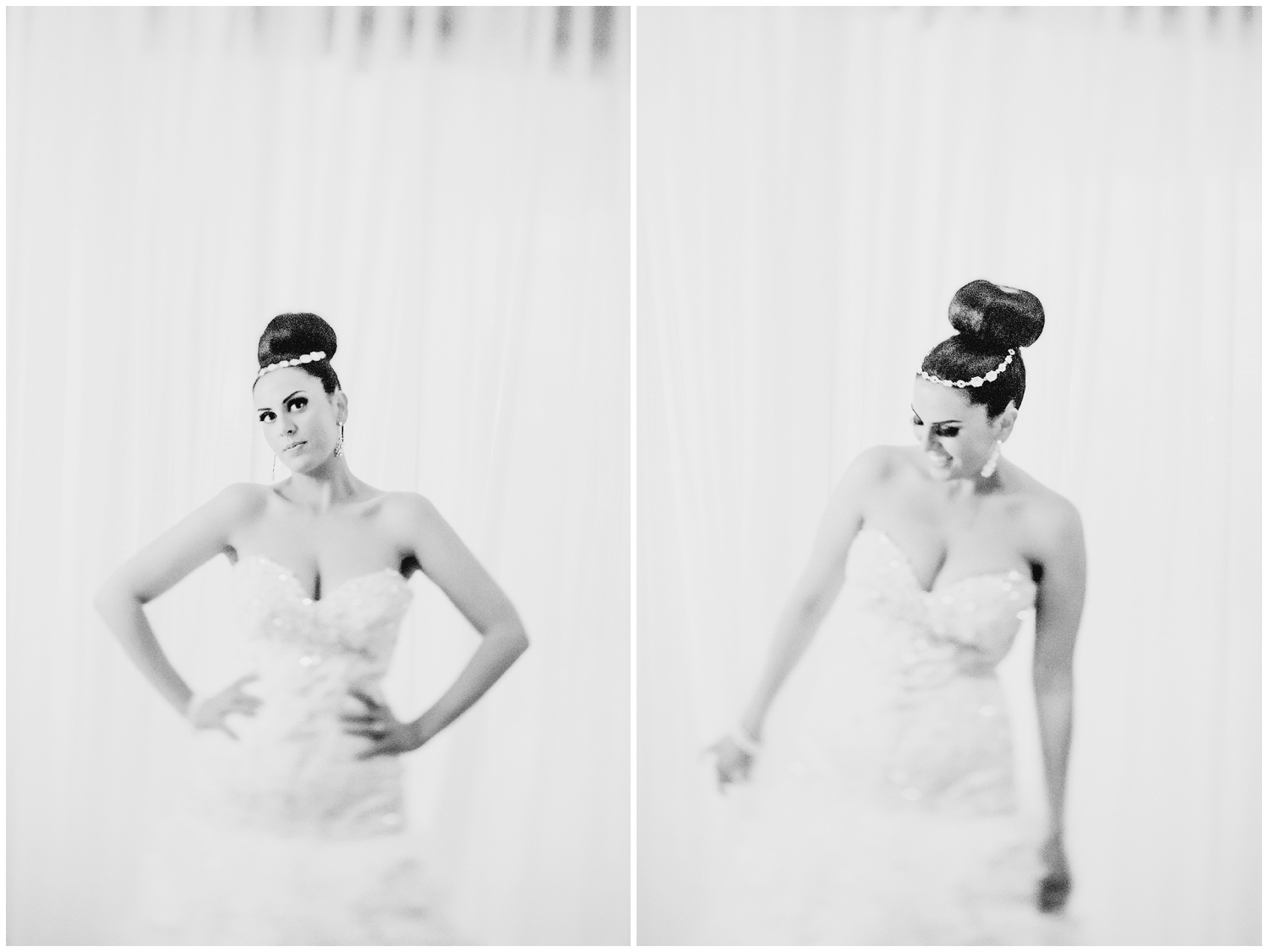 Black and white Bridal Photography in Houston