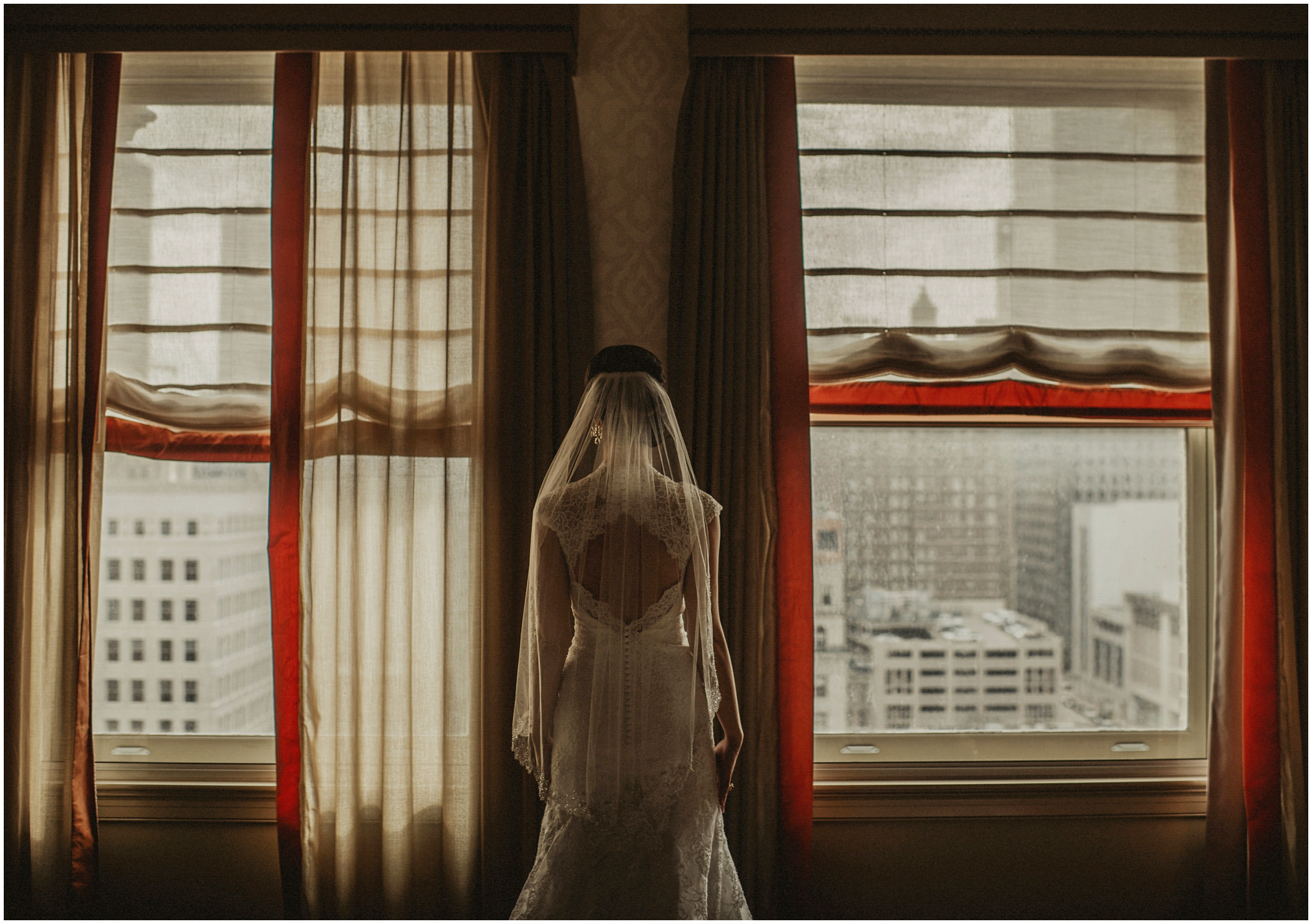 bride waiting for her wedding