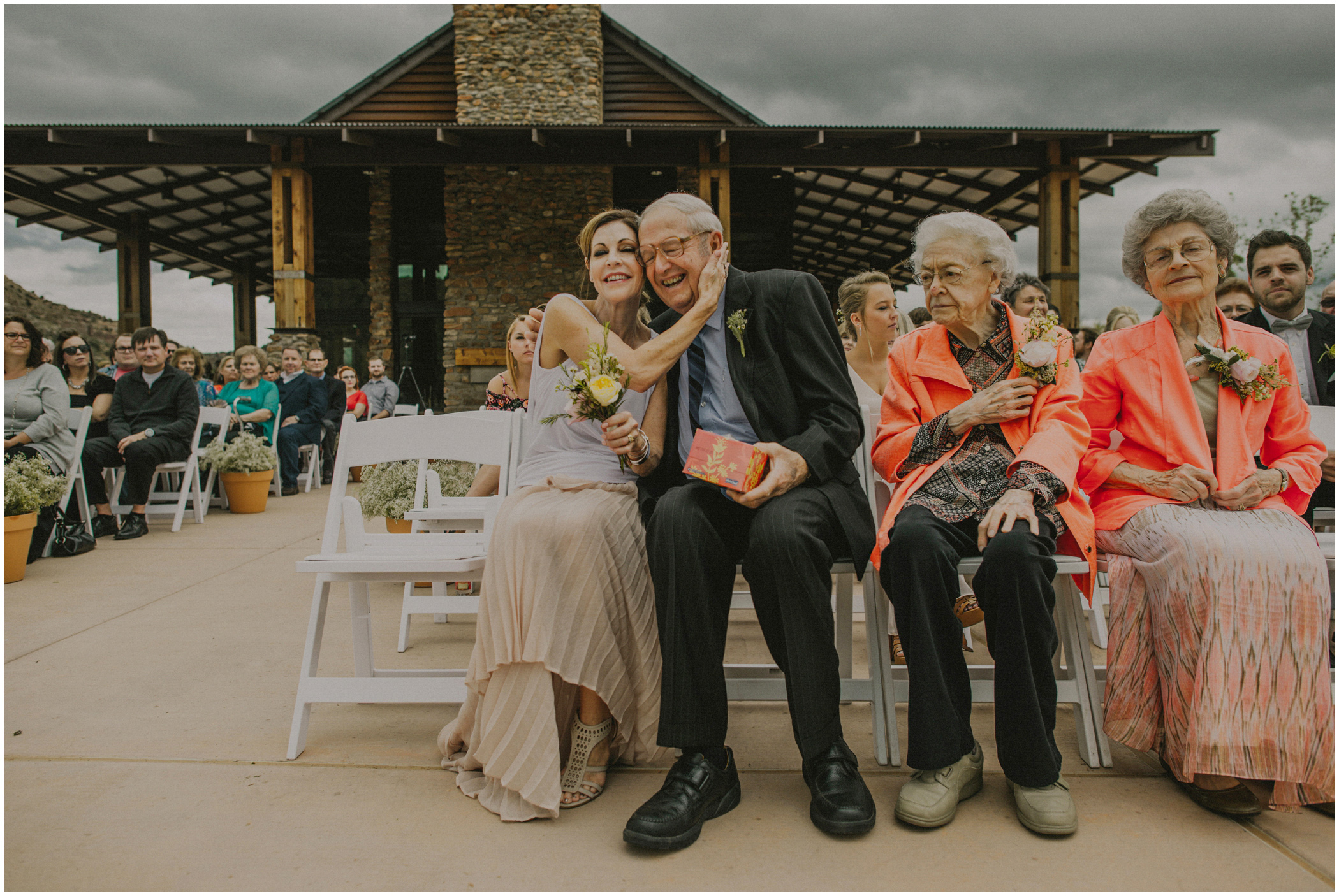 grandfather at the wedding