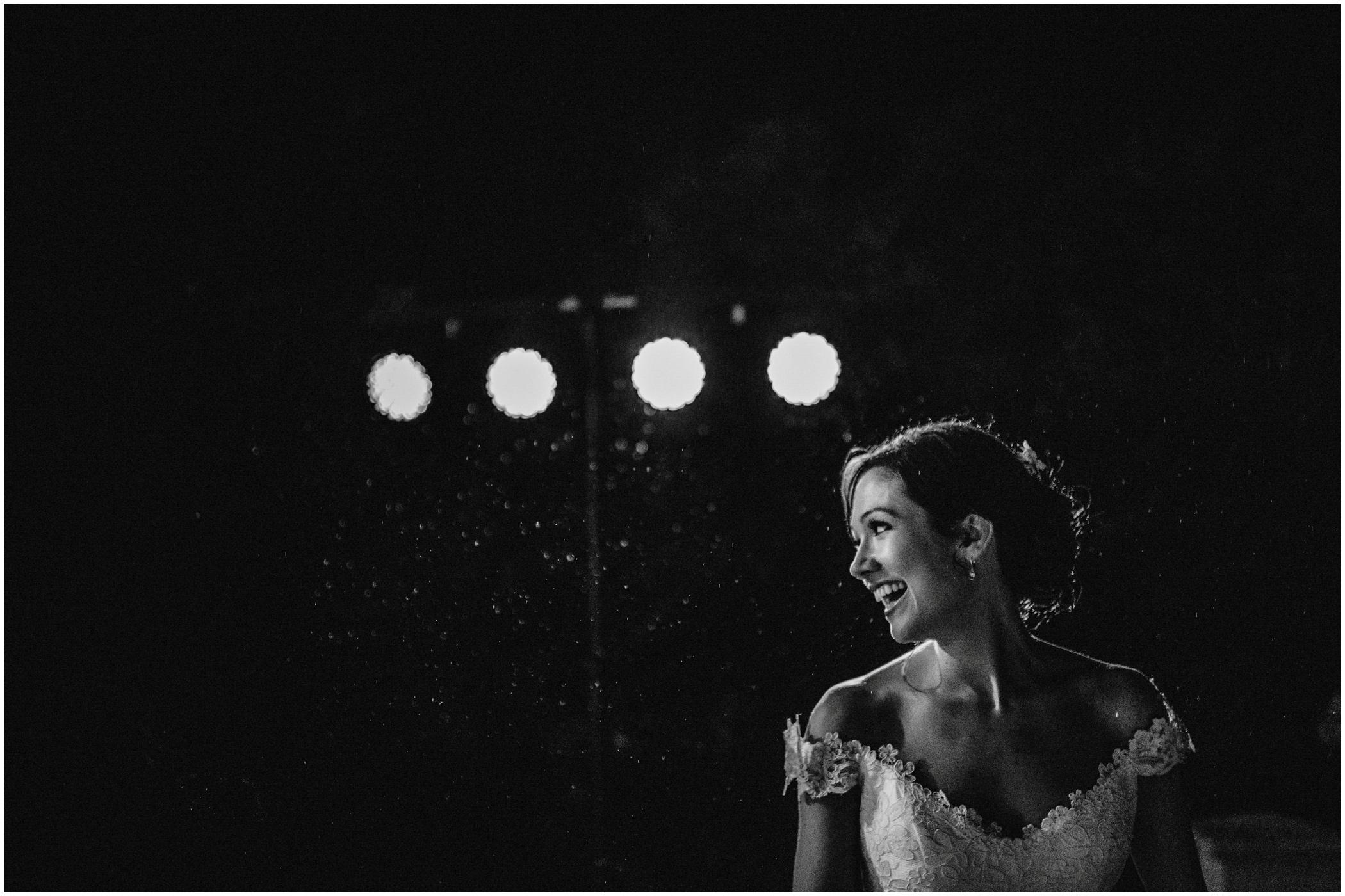 bride at her wedding reception