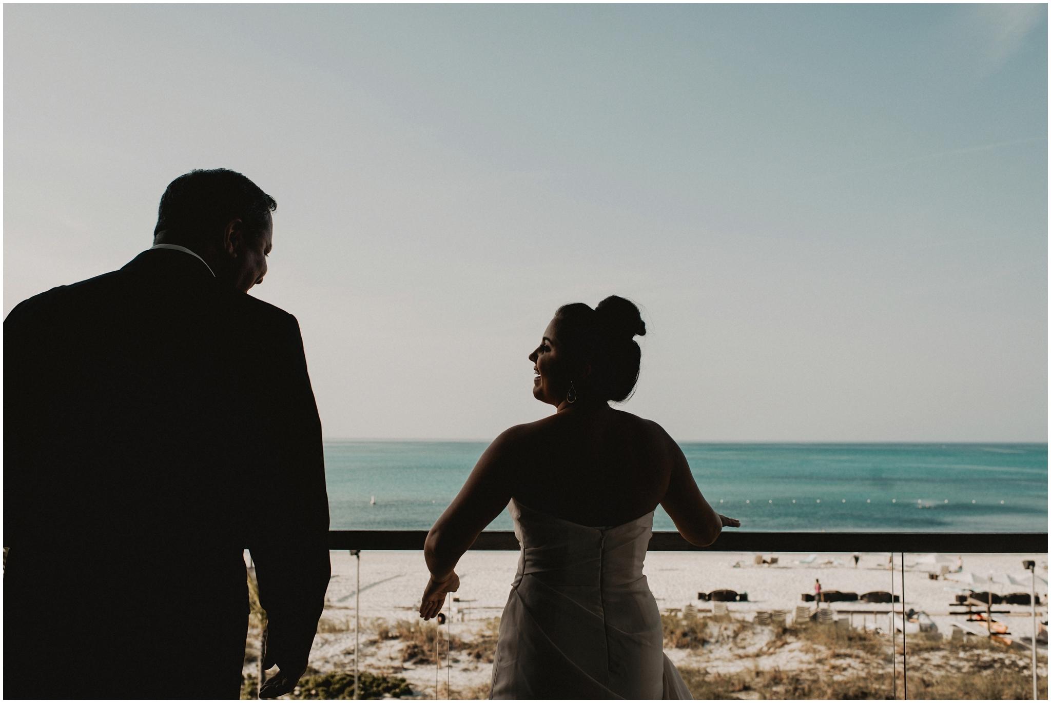 Happy bride in Gansevoort Turks & Caicos