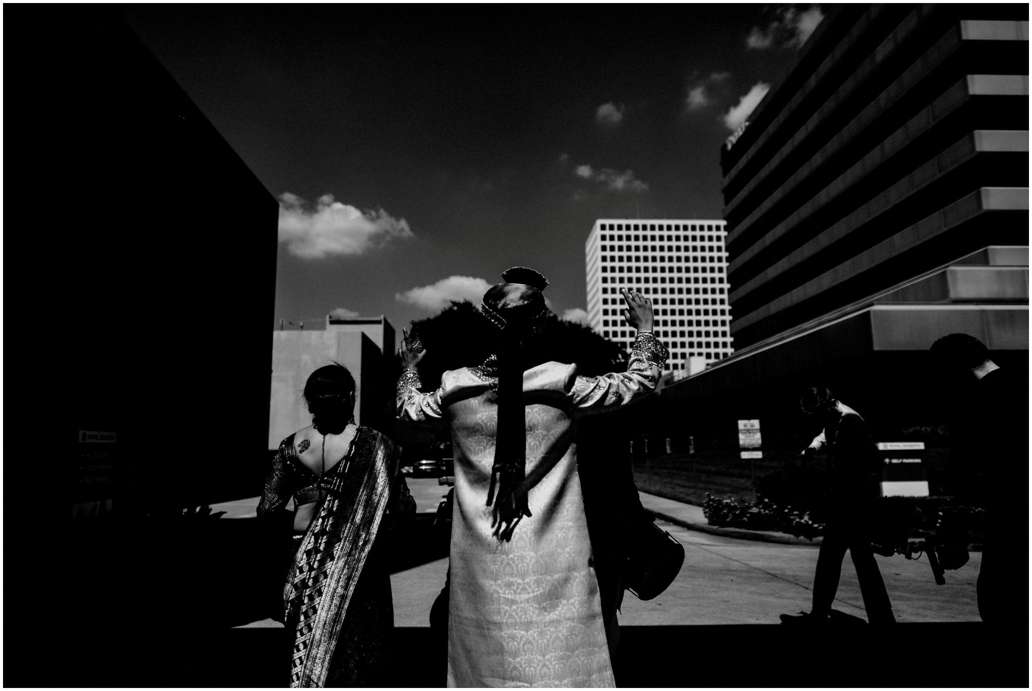 Black and White Wedding Photography Houston