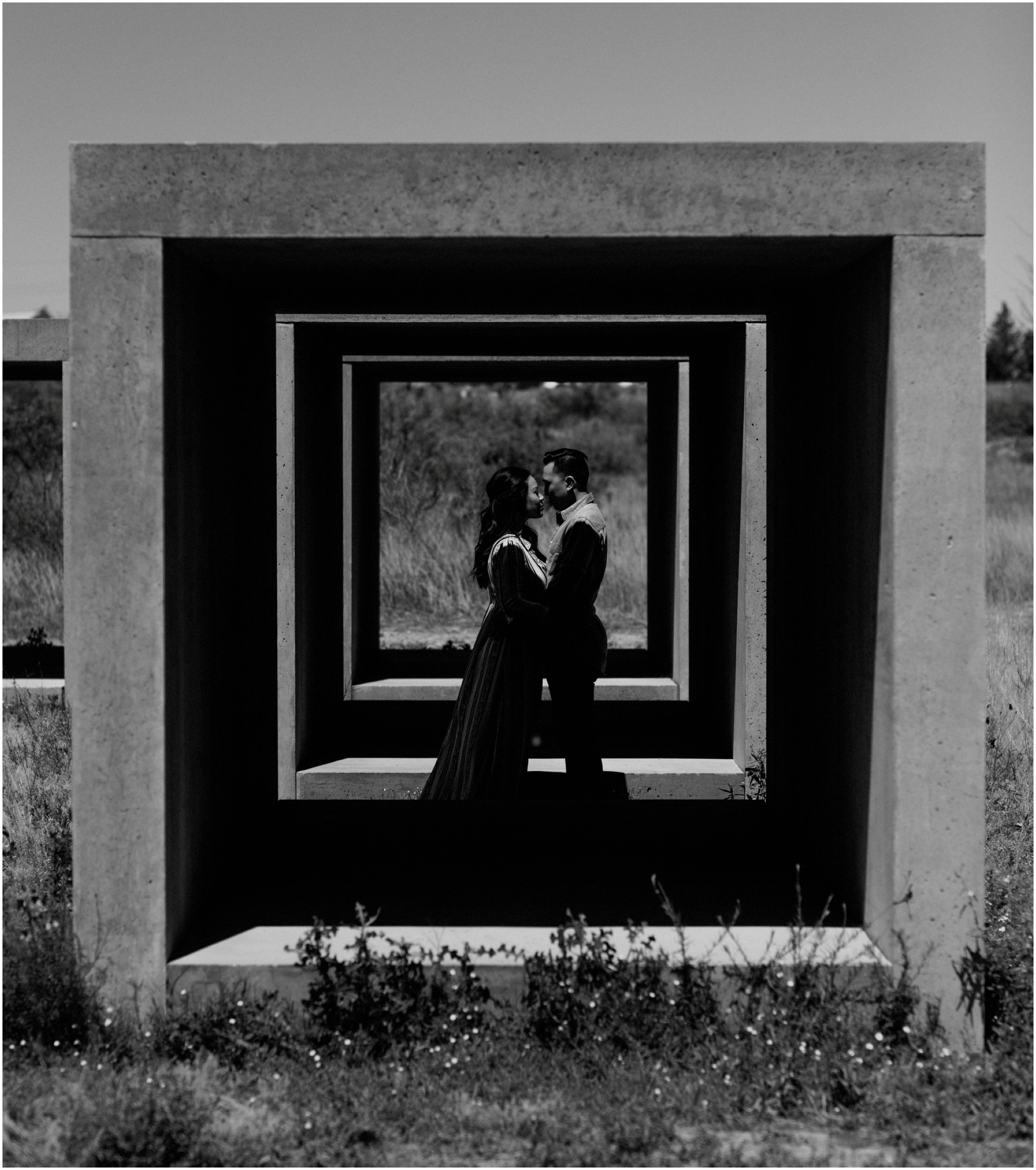 Black and white Engagement Photographer Texas