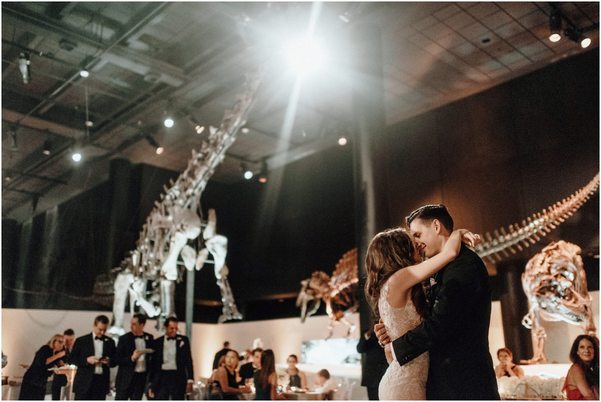 brad ellie houston museum of natural science wedding